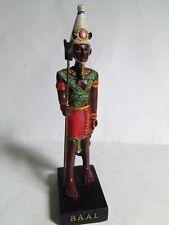 BAAL Figura Dios Antiguo Egipto 10-15 cms Resina pintado mano Faraón Pharaoh