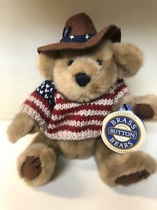 Vintage 1996 Cody The Brass Button Bear Collection Stuffed Bears New With Tags