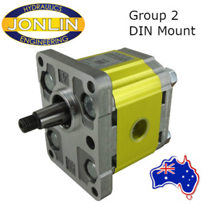Hydraulic Gear Pump Group 2 DIN Mount 1:8 Tapered Shaft 4.2CC - 39.6CC BSP Ports