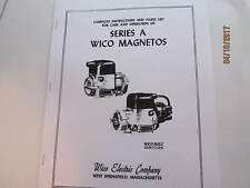 Wico A Magneto Repair Instructions/Parts