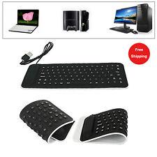 USB Tastiera Mini Flexible Silicone Keyboard Foldable Per PC Laptop Notebook Hot