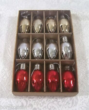 West Elm Jingle All The Way Christmas Holiday Ornaments ~ Set of 12 ~ NEW