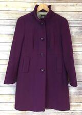J. Crew Wool Nylon Winter Coat Size P8 Deep Purple Thinsulate Petite 8