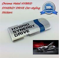 HYBRID SYNERGY DRIVE Chrome Metal Hybrid Car Styling Decoration Emblems Sticker