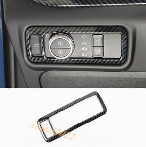 Carbon Fiber Headlight Switch Button Cover Trim For Ford Explorer 2020 2021