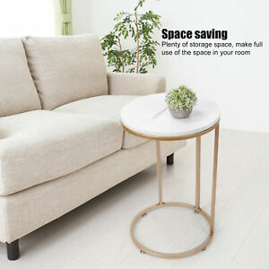 C-shaped Modern Living Room Round Side End Coffee Table Nightstand