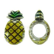 Pineapple Charm European Bead Compatible for Most European Snake Chain Bracelet