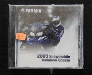 2005 YAMAHA RS 90 K MK ER RAGE RX10K RX-1 SNOWMOBILE TECHNICAL UPDATE MANUAL DVD