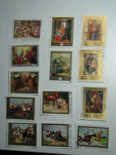 Set of 24 Magyar Post Hungary Art Stamps Icons Masks Horses Religion