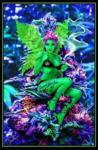 Weed Fairy Non-Flocked Blacklight Poster 24x36 inches