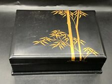 More details for vintage / antique signed lacquer ware jewelry jewellery box