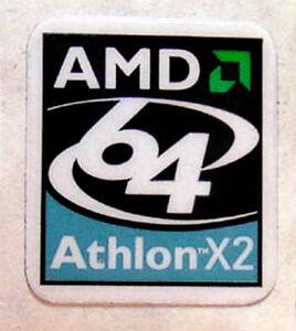AMD Athlon 64 X2 Sticker 17 x 18mm Case Badge Logo Label USA Seller