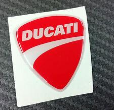 Adesivo Stickers New DUCATI Red 3D resinato 3 cm.