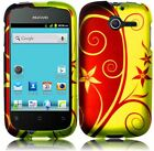 For Huawei Ascend Y H866C Rubberized HARD Case Snap On Phone Cover Elegant Swirl