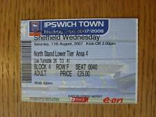 11/08/2007 Ticket: Ipswich Town v Sheffield Wednesday