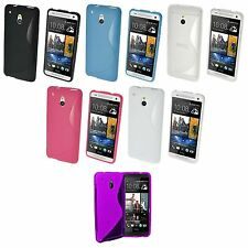 Case For HTC One M7 S-Line Silicone Gel Skin Tough Shockproof Phone Cover