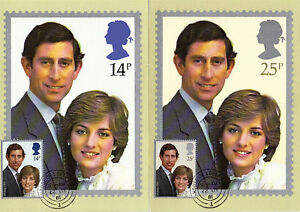 22 JULY 1981 ROYAL WEDDING SET OF PHQ CARDS 53 HOUSE OF LORDS CDS