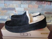 Mens Size 7 UGG Ascot Wool Sheepskin Slippers Shoes Black Red 5775 BWFSC