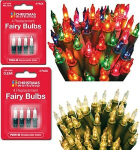 20/40/100/200 Spare replacement Bulb Multi & Clear Colour Christmas Fairy Lights