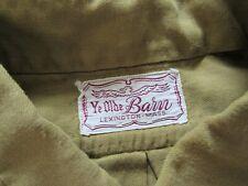Vtg 50s 60s Ye Olde Barn Cotton / Rayon Dress Shirt W/ Gussets Mod Hollywood