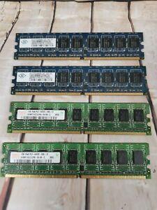 HYNIX & NANYA DDR2 PC2-6400E 4GB 4x 1GB 240 PIN RAM STICKS MODULE SET KIT