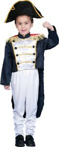 Child's Historical Colonial General Dress Up Costume Size Medium 8-10 Years