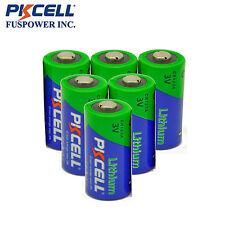 6 X PKCELL 2/3A Battery CR17345(CR17335) CR123A 6340 3V Lithium Batteries