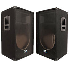 Seismic Audio - Two Empty 15 Inch PA / DJ Speaker Cabinet with Titanium Horns