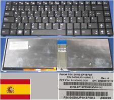 Clavier Qwerty Espagnol ASUS UL30 UL30VT 9J.N1M82.H0S Noir-frame Noir BACKLIT