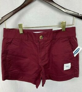 NWT Old Navy Women's Short Everyday Short Mid-Rise Burgundy Size 2, 6, 8, 12, 18