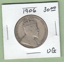 1906 Canadian 50 Cents Silver Coin - VG