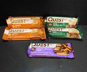 Questbar Protein Bar Lot of 9 Mocha Pumpkin Caramel