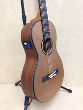 Caraya Parlor-610 Electric-Acoustic Guitar EQ Natural Matt+Free Gig bag,3 Picks