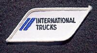"INTERNATIONAL TRUCKS EMBROIDERED SEW ON PATCH NAVISTAR ADVERTISING 3"" x 1 1/2"""
