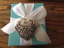 new Tiffany Co Ziegfeld silver ultra large heart Daisy locket pendant genuine