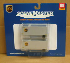Walthers 949-8601 HO UPS 28' container w/chassis, 2 pak (new UPS shield)