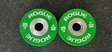✅  Rogue Fitness Pair of 25 lb Dumbbell Bumper Plates  ✅  Same Day Shipping!