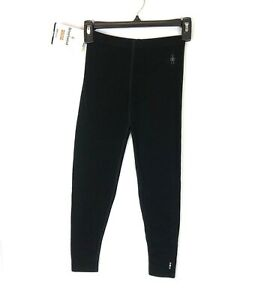 Smartwool Girl's Merino 250 Black Base Layer Pants, Size S
