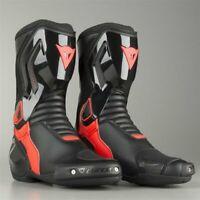 Stivali racing moto Dainese Nexus nero rosso taglia 44 black red fluo boots