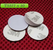 10 x RFID T5577 125KHZ (pack of 10) Rewritable 3M coin read write