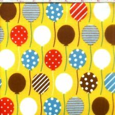 "Urban Flotologie Balloons Flannel 42"" fabric by the yard"