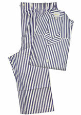 Brioni Men's Blue 100% Cotton Striped Pajamas (XXL)