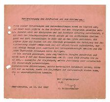 Dokument Oderwitz Verunreinigung des Dorfbaches & Mühlgraben 1942  ! (D8