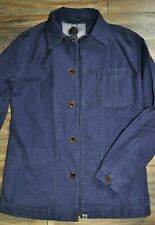 Pretty Green Mens Button Up Jacket Navy Blue 100% Cotton Smart Casual Wear XS