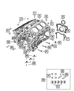 OEM NEW 2001-20 Mopar Chrysler Pacifica Voyager Water Jacket Core Plug 4556020AB