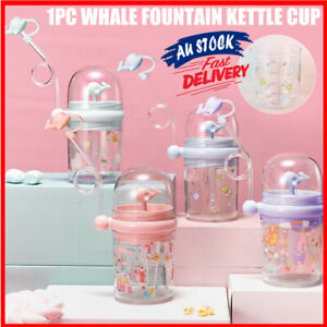 Cute Whale Water Spray Cup Summer Plastic Children Water Cup Jug Bottle Decors