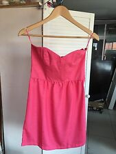 New Cotton On Women's Dress Strapless Summer Pink Size S