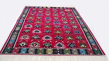 "Antique vintage tribal handmade hand-knotted soft rug 80"" x 120"" pure wool #35"