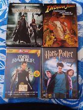 DVD x4 Harry Potter Tomb Raider Indiana Jones Van Helsing Avventura Fantasy