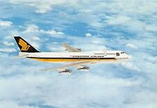 Singapore Airlines Boeing 747-300  Airplane Postcard